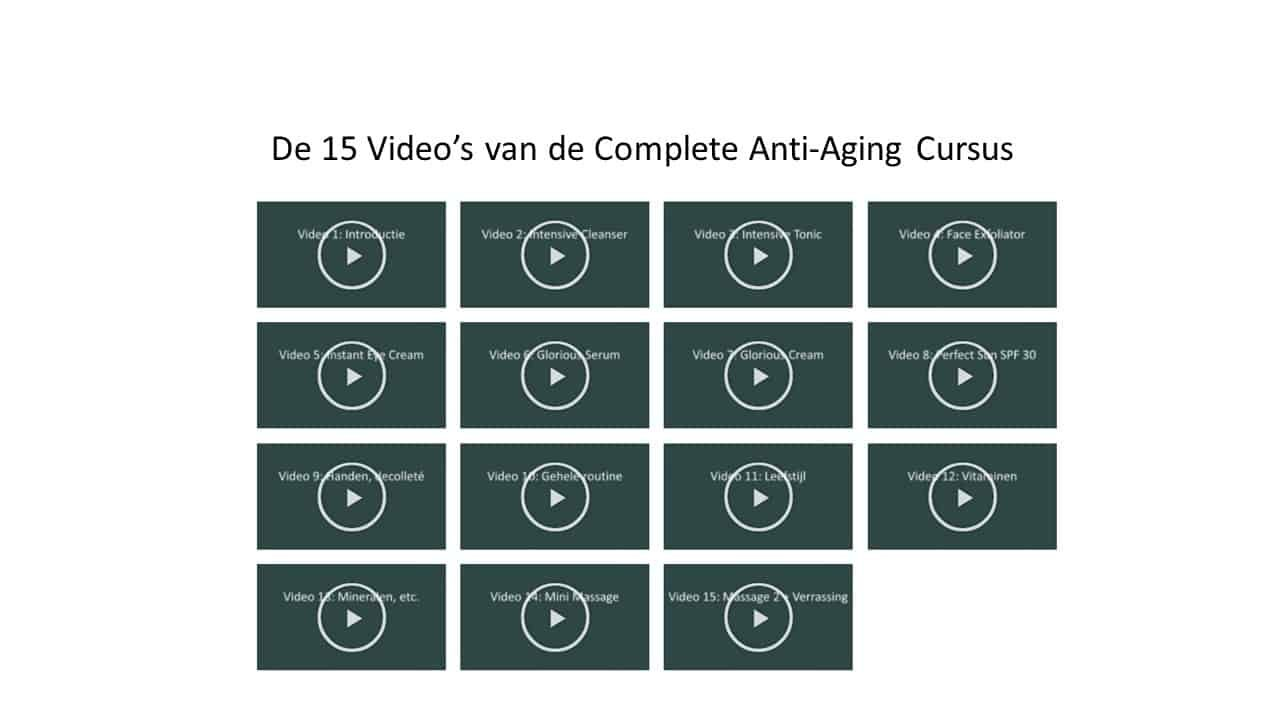 Complete Anti-Aging Cursus – 15 video's